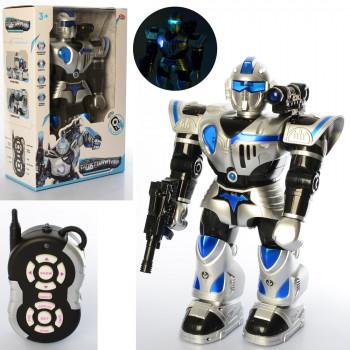 Робот 9897 (4шт) р\у, 47см, звук, світло,танцює,стріляє, на батар, в кор-ці,32-48-17см