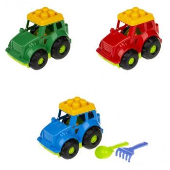0206 Трактор Коник  (трактор,лопата і граблі ЛГ3 ) в сітці