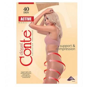Конте Колготи ACTIVE 40 ден bronz 4 р. (10 шт/бокс)